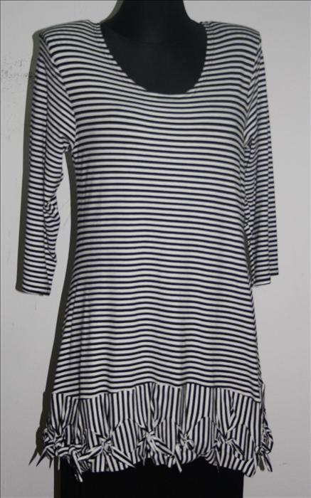 shoppingpoint basic tunika der marke new jersey schwarz wei. Black Bedroom Furniture Sets. Home Design Ideas